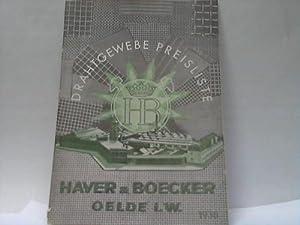 Drahtgewebe-Preisliste 1938: Haver & Boecker