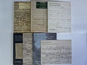 Sammlung von 5 Katalogen und 2 Broschüren: Sotheby's, London (Hrsg.)