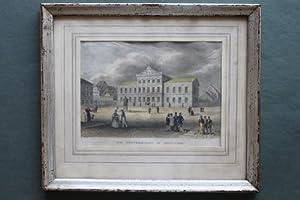 Die Universität in Göttingen - Handcolorierte Original-Radierung: G�ttingen