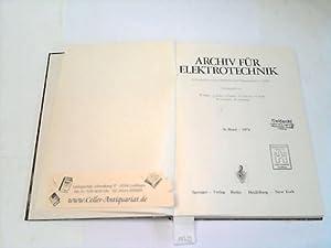 Archiv für Elektrotechnik. 56. Band.: Bader/Dosse/Fischer/Hofmann/Kohn (Hrsg.)