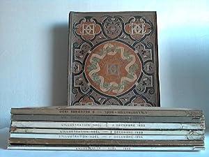 7 verschiedene Bände aus 1921-1939: L'illustration Noel