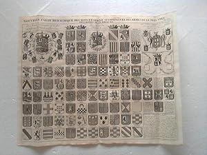 Nouvelle Carte Heraldique Des Rois D'Espagne Accompagnée Des Armes De La Plus Part Des ...