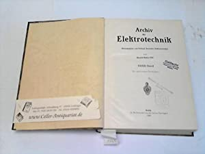 Archiv für Elektrotechnik. XXXIII. Band: Müller, Harald (Hrsg.)