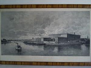 Stockholms Slott (Stockholmer Schloß) - 1 Original-Radierung: Stockholm