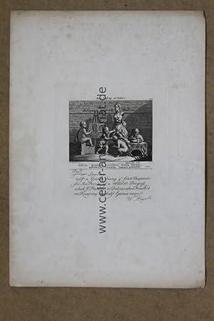 1 originaler Kupferstich: Boys peeping at Nature. Blatt 85: Hogarth, William (10. November 1697 in ...