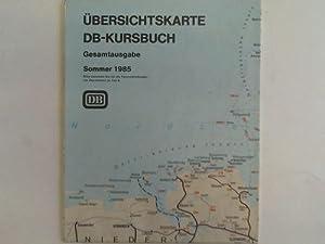 Übersichtskarte DB-Kursbuch. Gesamtausgabe Sommer 1985: Deutsche Bundesbahn