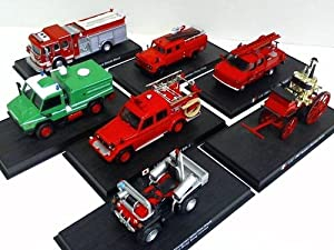Sammlung von 7 Feuerwehrfahrzeugen: Modell-Autos
