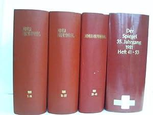 35. Jahrgang. 1981. 52 Hefte in 4 Bänden: Spiegel, Der