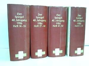 40. Jahrgang. 1986. 52 Hefte in 4 Bänden: Spiegel, Der