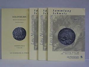 4 Kataloge von Münzauktionen: Leu Numismatik, Zürich (Hrsg.)