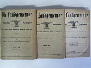 Volkstümliches Verwaltungsblatt für die Landkreise, Landstädte, Amtsbezirke, ...
