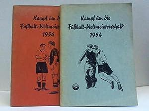 Kampf um die Fußball-Weltmeisterschaft 1954. 2 Sammelbilderalben: Schumann-OK Kaugummi, ...