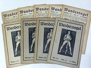 Monatszeitschrift der Schweizer Wandervögel. 10. Jahrgang 1918/1919. Hefte 1 bis 12 in 9 ...