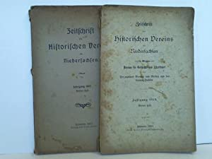 Zeitschrift des historischen Vereins für Niedersachsen. Jahrgang 1910, 3. und 4. Heft. 2 Hefte...