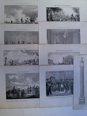 9 Lithographien: Napoleon bei verschiedenen Ereignissen: Napoleon Bonaparte