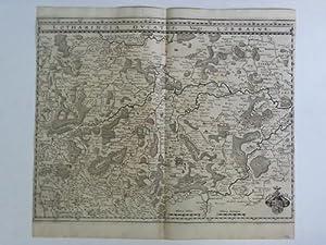 Lotharingia Ducatus, Vulgo Lorraine - Karte im Kupferstich von Matthäus Merian: Gottfried, ...