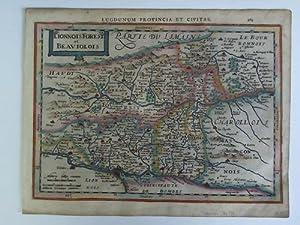 Lugdunum Provincia et Civitas. Lionnois. Forest et Beaviolois - Colorierte Karte im Kupferstich: ...