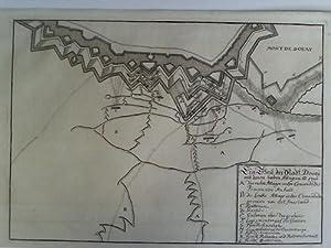 Ein Theil der Stadt Dovay mit denen beeden Attagven ao 1710 - Plan im Kupferstich: Douai
