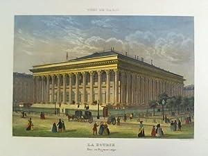La Bourse. Prise au Daguerreotype - Colorierter Stahlstich, nach einer Daguerreotypie: Paris