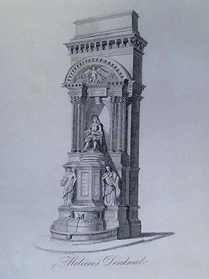 Molièrés Denkmal - Steindruck von C.W. Medau in Leitmeritz: Paris