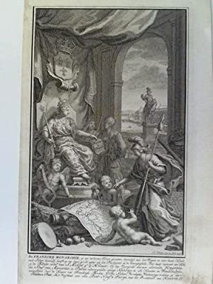 De Fransche Monarchie - Kupferstich, von Jan Caspar Philips (1736 - 1775): Frankreich