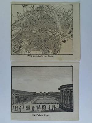Grundriss von Paris / Palais Royal - 2 lithographische Tafeln: Paris