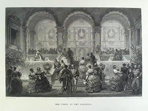 Een Feest op het Stadhuis - Stahlstich, von Ed. Willmann & A. Blanchard, nach Eugène ...