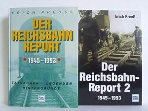 Der Reichsbahnreport 1945 - 1993. Band 1 und 2. Zusammen 2 Bände: Preuß, Erich