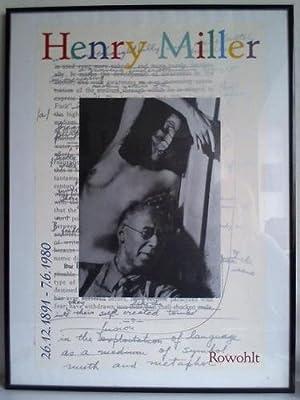 """Porträtaufnahme mit """"Muse"""" - Plakat im Kunstdruck: Henry Miller (26.12.1891 - ..."""