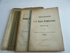 Jahresbericht für das Schuljahr 1904/05 / Jahresbericht 1899 / Festpogramm 1908...
