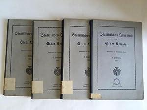 Statistisches Jahrbuch der Stadt Leipzig. 4 Bände: Statistisches Amt der Stadt Leipzig (Hrsg.)