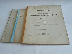 2 Jahresberichte. 1857 und 1890. Abhandlung zu der Entlassung der Abiturienten am 17. März ...