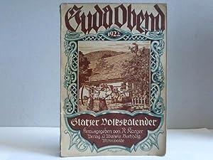 Guda Obend! Heimatliches Jahrbuch für die Grafschaft Glatz und ihre Nachbargebiete 1922. 12. ...