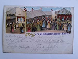 Postkarte: Gruss v. d. Schiersteiner-Kerb: Schierstein