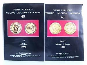 Vente Publique. Auktion 40/1995 und 43/1996. Zusammen: Elsen, Jean -