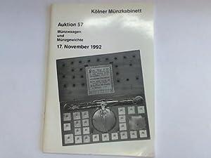 Auktion 57. Münzwaagen und Münzgewichte. 17. November: Kölner Münzkabinett/ Kroha,