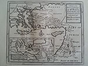A Map of the Travels & Voyages of St. Paul. And y. other Places that are mention'd, or referred t...