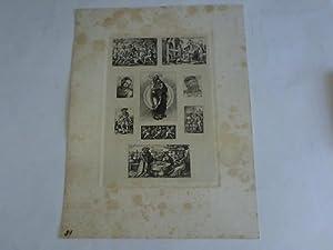 9 kleine Kupferstiche auf einem Bogen um: Sebald Beham, Hans