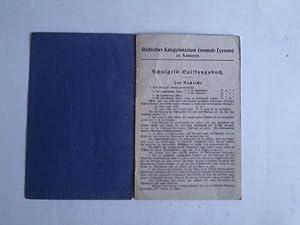 Schulgeld-Quittungsbuch: Städtisches Ratsgymnasium (vormals