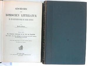 Geschichte der römischen Literatur bis zum Gesetzgebungswerk des Kaisers Justinian. Band 1 in ...