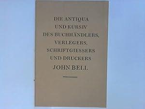Die Antiqua und Kursiv des Buchhändlers, Verlegers,: Caflisch, Max