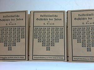Volkstümliche Geschichte der Juden in drei Bänden. (3 Bände): Graetz, H.