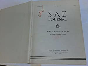 Published by the Society of Automotive Engineers, Inc. Jahrgang 1935 und 1936 in einem: SAE Journal