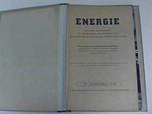 Technische Fachzeitschrift. 12 Hefte: Energie