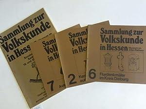 Sammlung zur Volkskunde in Hessen. Mauseum im alten Rathaus. 4 Bände: Hessen