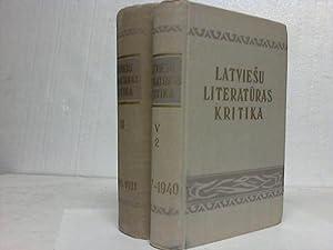 Rakstu Kopojums. Piektais Sejums (1917-1940). Otrais Sejums (1905-1911). 2 Bände: Latviesu ...