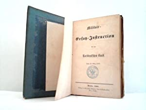 Für den Norddeutschen Bund. Vom 26. März 1868: Militair-Ersatz-Instructionen