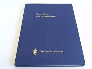 Zum 65. Geburtstag am 30. Juni 1977. Gewidmete Arbeiten erschienen in : European Journal of ...
