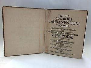 Brevia Consulum Laubanesium Encomia: Schlesien/Lauban - Hausdorffen, M. Paul Christian