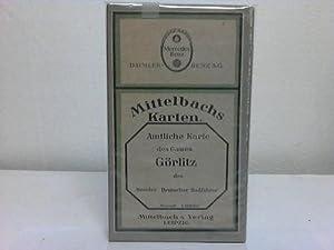 Amtliche Karte des Gaues Görlitz des Bundes Deutscher Radfahrer: Görlitz